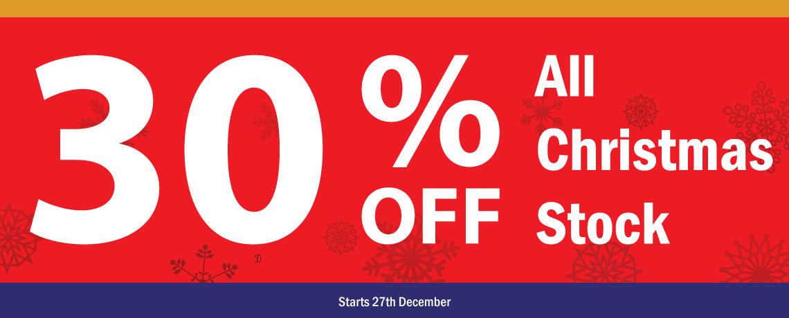 30% Off Christmas Sale
